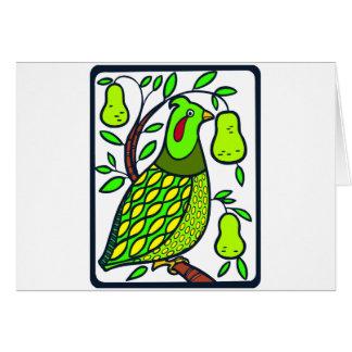 Cartão Perdiz na árvore de pera