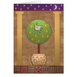Cartão Perdiz X009 em uma árvore de pera