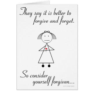 Cartão Perdoe e esqueça