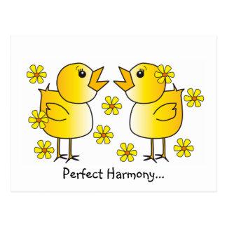 Cartão perfeito da harmonia