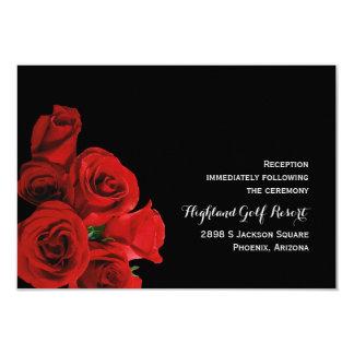 Cartão perfeito da recepção dos rosas