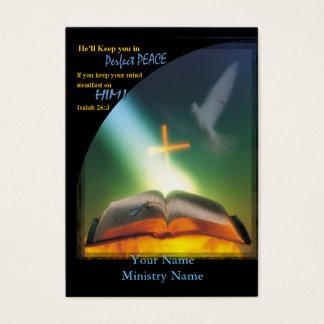 Cartão perfeito do Paz-Negócio/ministério
