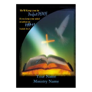 Cartão perfeito do Paz-Negócio/ministério Modelos Cartao De Visita