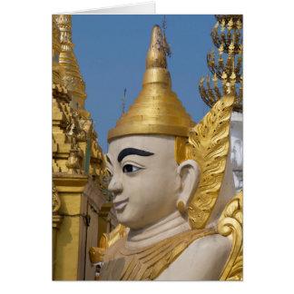Cartão Perfil da estátua de Buddha