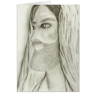 Cartão perfil de jesus