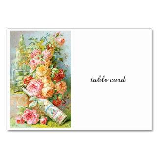 Cartão Perfume da água de Florida com rosas da couve