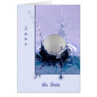 Cartão Perigo da água