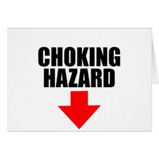 Cartão perigo de bloqueio