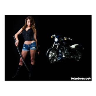 Cartão perigoso do borracho do motociclista