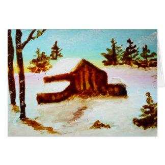 Cartão Período da queda de neve do inverno