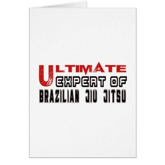 Cartão Perito final do brasileiro Jiu Jitsu.