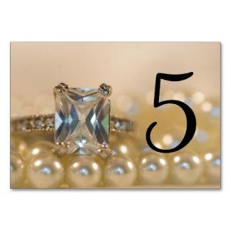 Cartão Pérolas da princesa anel de diamante que Wedding