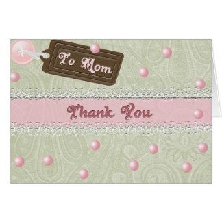 Cartão Pérolas do dia das mães