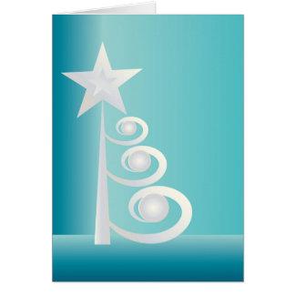 Cartão Pérolas para o Natal