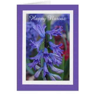 Cartão persa do ano novo do jacinto
