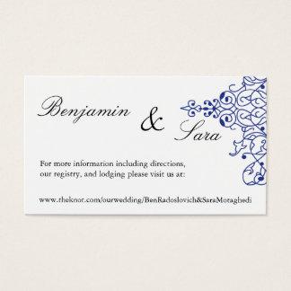 Cartão persa do Web site do casamento do rolo