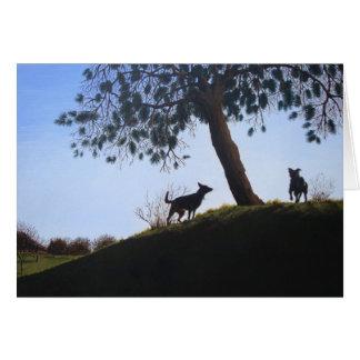 Cartão persegue a arte cénico do realista da pintura de
