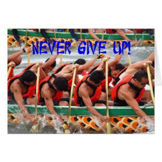 Cartão Perseverança da mostra dos Rowers da raça de barco