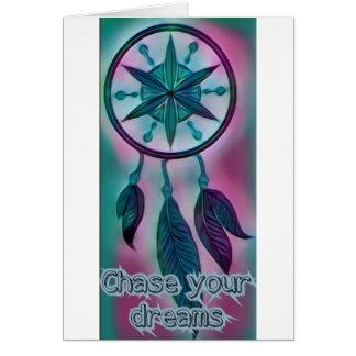 Cartão Persiga-o sonha. Coletor ideal inspirado