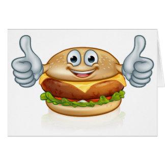 Cartão Personagem de desenho animado da mascote da comida