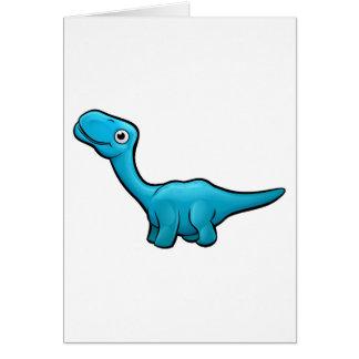 Cartão Personagem de desenho animado do dinossauro do