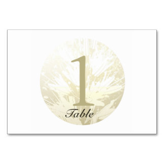 Cartão personalizado 6 da mesa do casamento flores