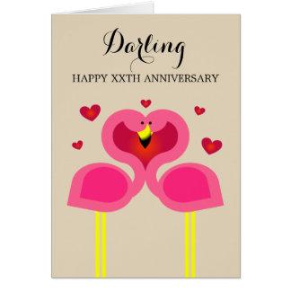 Cartão personalizado amor do aniversário do