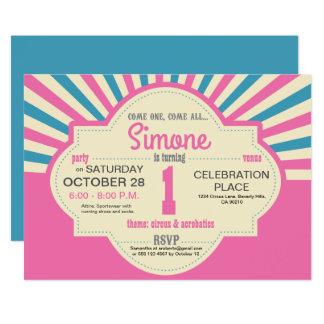 Cartão Personalizado, circo temático, primeiro