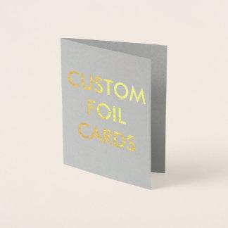 Cartão personalizado costume da folha de ouro