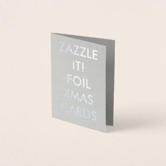 Cartão personalizado costume da folha de prata