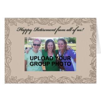 Cartão personalizado da aposentadoria