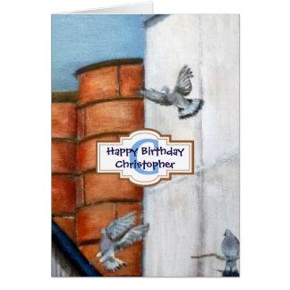 Cartão personalizado da arte do feliz aniversario