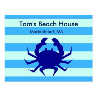 Cartão personalizado da casa de praia do