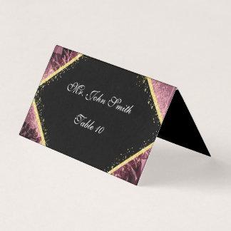 Cartão personalizado da escolta do roxo e do ouro