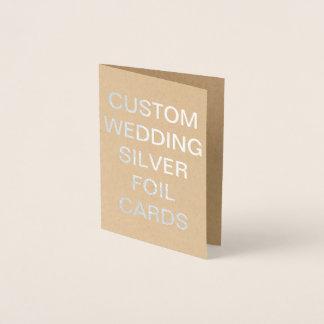 Cartão personalizado da folha de prata do