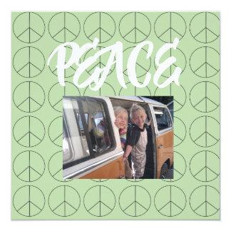 Cartão personalizado da paz
