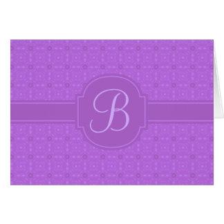 Cartão personalizado damasco com monograma