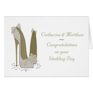 Cartão personalizado dia do casamento