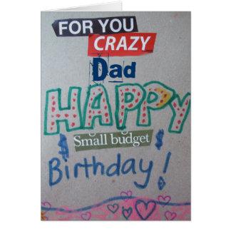 Cartão personalizado do aniversário do orçamento