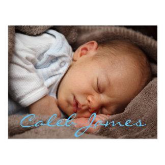 Cartão personalizado do anúncio do nascimento do