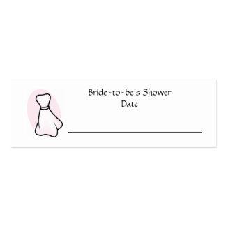 Cartão personalizado do lugar do chá de panela cartão de visita skinny