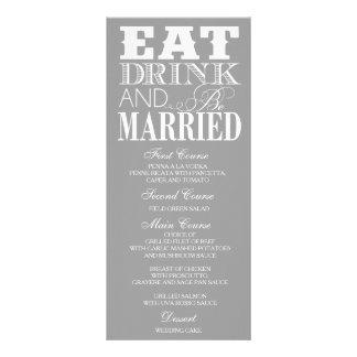 Cartão personalizado do menu do comensal da