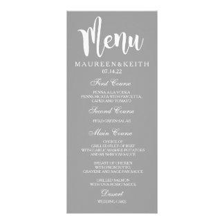 Cartão personalizado do menu do comensal de