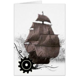 cartão personalizado do pirata de Steampunk