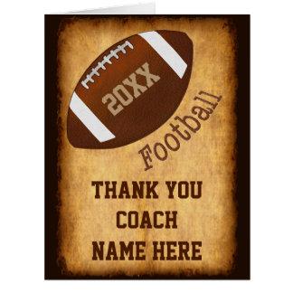 Cartão personalizado do treinador de futebol, os