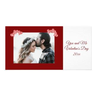 Cartão personalizado dos corações do dia dos