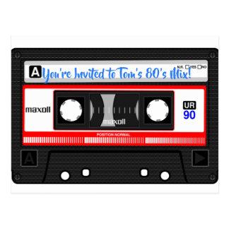 cartão personalizado fita da mistura do anos 80