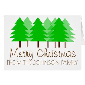 Cartão personalizado floresta do Natal
