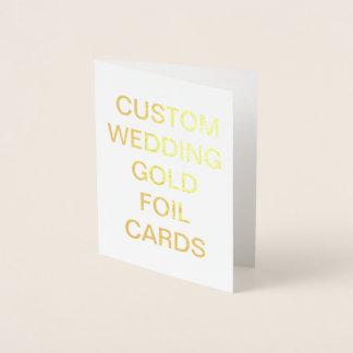 Cartão personalizado pequeno da folha de ouro do