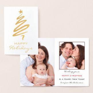 Cartão personalizado real do feriado da foto da